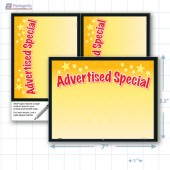 "Advertised Special Merchandising Placard 7.5x5"" - Copyright - A1PKG.com SKU - 16803"