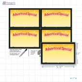 "Advertised Special Merchandising Placards 4UP (5.5"" x 3.5"") - Copyright - A1PKG.com - 16804"