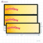 "Advertised Special Merchandising Placards 2UP (11"" x 3.5"") - Copyright - A1PKG.com - 16805"