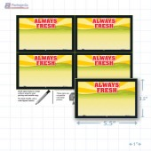 "Always Fresh Merchandising Placards 4UP (5.5"" x 3.5"") - Copyright - A1PKG.com - 16809"