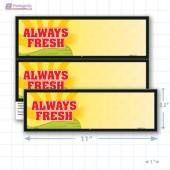 """Always Fresh Merchandising Placards 2UP (11"""" x 3.5"""") - Copyright - A1PKG.com - 16810"""