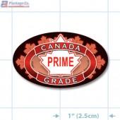 Canada Prime Grade Full Color Oval Merchandising Labels - Copyright - A1PKG.com SKU - 20301