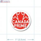 Canada Prime Grade Red Circle Merchandising Labels - Copyright - A1PKG.com SKU - 20322