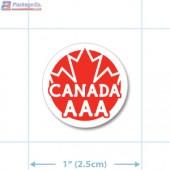 Canada Prime Grade Red AAA Circle Merchandising Labels - Copyright - A1PKG.com SKU - 20323