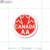 Canada Prime Grade Red AA Circle Merchandising Labels - Copyright - A1PKG.com SKU - 20324