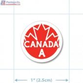 Canada Prime Grade A Red Circle Merchandising Labels - Copyright - A1PKG.com SKU - 20325