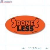 Boneless Fluorescent Red Oval Merchandising Labels - Copyright - A1PKG.com SKU - 20426