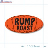 Rump Roast Fluorescent Red Oval Merchandising Labels - Copyright - A1PKG.com SKU - 20745