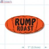 Rump Roast Fluorescent Red Oval Merchandising Labels - Copyright - A1PKG.com SKU - 20745