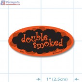Double Smoked Fluorescent Red Oval Merchandising Labels - Copyright - A1PKG.com SKU - 20957