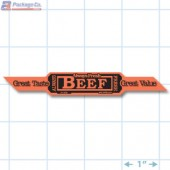 Beef Corner Strap Red Fluorescent Merchandising Label Copyright A1PKG.com - 21502