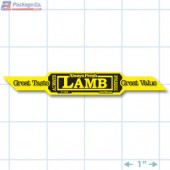 Lamb Corner Strap Yellow Fluorescent Merchandising Label Copyright A1PKG.com - 21702