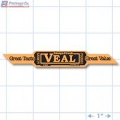 Veal Corner Strap Orange Fluorescent Merchandising Label Copyright A1PKG.com - 21802