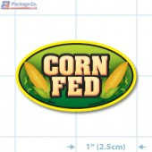 Corn Fed Full Color Oval Merchandising Labels - Copyright - A1PKG.com SKU -  25101