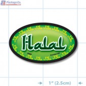Halal Full Color Oval Merchandising Labels - Copyright - A1PKG.com SKU -  25902