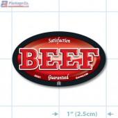 Beef Full Color Oval Merchandising Labels - Copyright - A1PKG.com SKU - 26501