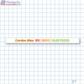 Cordon Bleu Merchandising Shelf Channel Strips Copyright A1PKG.com - 26560