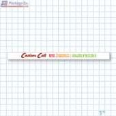 Custom Cuts Merchandising Shelf Channel Strips Copyright A1PKG.com - 26564