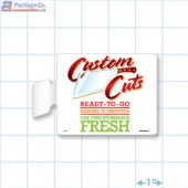 Custom Cuts Merchandising Rectangle Aisle Talker - Copyright - A1PKG.com - 26566