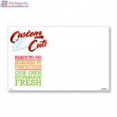 "Custom Cuts Merchandising Placards 1UP (11"" x 7"") - Copyright - A1PKG.com - 26567"