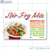 Stir Fry Full Color HMR Rectangle Merchandising Labels - Copyright - A1PKG.com SKU -  26574