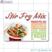 Stir Fry Full Color HMR Rectangle Merchandising Labels - Copyright - A1PKG.com SKU -  26574