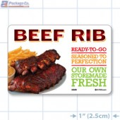 Beef Rib Full Color HMR Rectangle Merchandising Labels - Copyright - A1PKG.com SKU -  26580