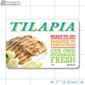 Tilapia Full Color HMR Rectangle Merchandising Labels - Copyright - A1PKG.com SKU -  26582