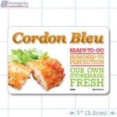 Cordon Bleu Full Color HMR Rectangle Merchandising Labels - Copyright - A1PKG.com SKU -  26585