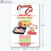 Cordon Bleu Merchandising Signicade with Graphics A1pkg.com SKU 26589