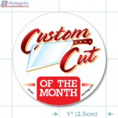 Custom Cut of the Month Circle Merchandising Labels - Copyright - A1PKG.com SKU # 26592