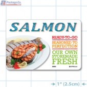 Salmon Full Color HMR Rectangle Merchandising Labels - Copyright - A1PKG.com SKU -  26593