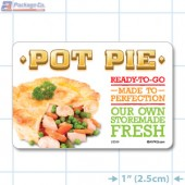 Pot Pie Full Color HMR Rectangle Merchandising Labels - Copyright - A1PKG.com SKU -  26599