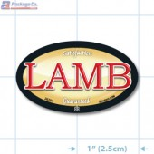Lamb Full Color Oval Merchandising Labels - Copyright - A1PKG.com SKU - 26701