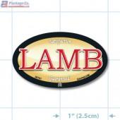 Lamb Full Color Oval Merchandising Labels - Copyright - A1PKG.com SKU - 26701