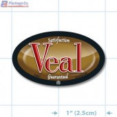 Veal Full Color Oval Merchandising Labels - Copyright - A1PKG.com SKU - 26801