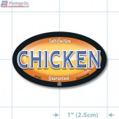 Chicken Full Color Oval Merchandising Labels - Copyright - A1PKG.com SKU -  27101