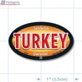 Turkey Full Color Oval Merchandising Labels - Copyright - A1PKG.com SKU -  27201