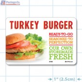 Turkey Burger Full Color HMR Oval Merchandising Labels - Copyright - A1PKG.com SKU -  27202