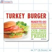 Turkey Burger Full Color HMR Oval Merchandising Labels - Copyright - A1PKG.com SKU -  27202
