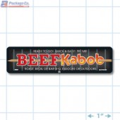 Beef Kabob Full Color Rectangle Merchandising Labels - Copyright - A1PKG.com SKU -  28001