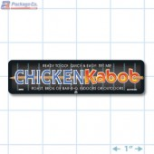 Chicken Kabob Full Color Rectangle Merchandising Labels - Copyright - A1PKG.com SKU -  28002