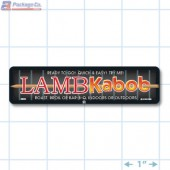 Lamb Kabob Full Color Rectangle Merchandising Labels - Copyright - A1PKG.com SKU -  28005