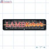 Lamb Kabob Full Color Rectangle Merchandising Labels - Copyright - A1PKG.com SKU -  28005
