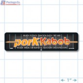 Pork Kabob Full Color Rectangle Merchandising Labels - Copyright - A1PKG.com SKU -  28006