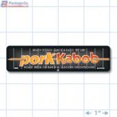 Pork Kabob Full Color Rectangle Merchandising Labels - Copyright - A1PKG.com SKU -  28006