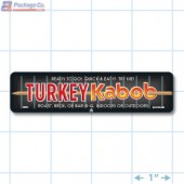 Turkey Kabob Full Color Rectangle Merchandising Labels - Copyright - A1PKG.com SKU -  28007