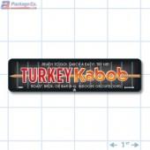Turkey Kabob Full Color Rectangle Merchandising Labels - Copyright - A1PKG.com SKU -  28007