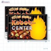 "Sizzling Summer Kabob Center Merchandising Placards 1UP (11"" x 7"") - Copyright - A1PKG.com - 28011"