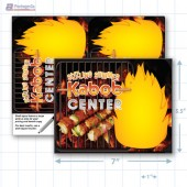 "Sizzling Summer Kabob Center Merchandising Placard 5.5 x 7"" - Copyright - A1PKG.com SKU - 28012"